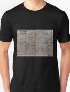 Civil War Maps 0544 Kentucky and Tennessee Unisex T-Shirt