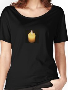 Candle On Black Background Women's Relaxed Fit T-Shirt