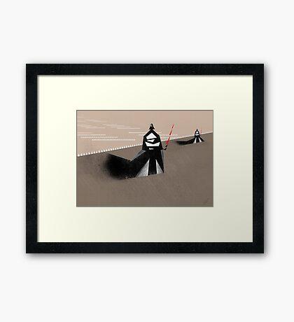 The Jedi hunt Framed Print
