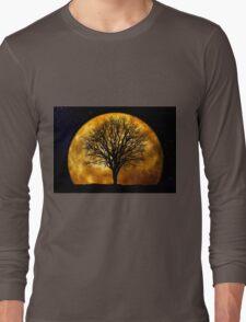 Tree and Moon  Long Sleeve T-Shirt