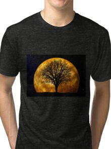 Tree and Moon  Tri-blend T-Shirt