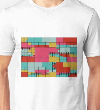 Colorful squares abstract design Unisex T-Shirt