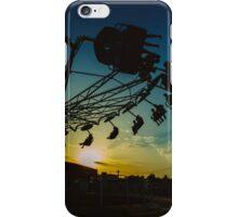 Amusement park sunset iPhone Case/Skin