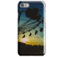 Amusement park sunset iPhone Case/Skin