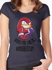 Would You Like to Armwrestle? Women's Fitted Scoop T-Shirt