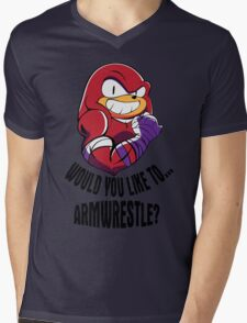 Would You Like to Armwrestle? Mens V-Neck T-Shirt