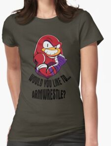 Would You Like to Armwrestle? Womens Fitted T-Shirt