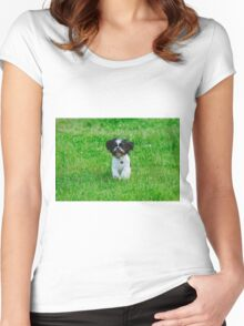 Running dog Women's Fitted Scoop T-Shirt