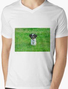 Running dog Mens V-Neck T-Shirt