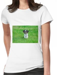 Running dog Womens Fitted T-Shirt