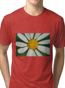 White flower macro Tri-blend T-Shirt