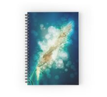 digitally manipulated flowering Reeds growing on a river bank Spiral Notebook