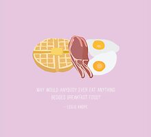 Leslie Knope Loves Breakfast Food by LizWallflower