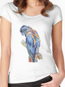 Psychedelic Parrot Australian Cockatoo Women's Fitted Scoop T-Shirt