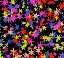Colorful stars pattern Sticker