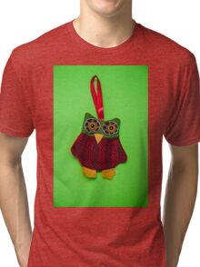 Cute owl decoration Tri-blend T-Shirt