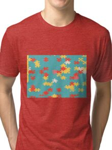 Puzzle pieces abstract design Tri-blend T-Shirt