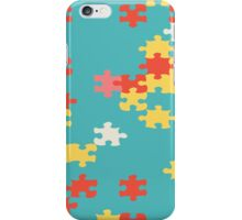 Puzzle pieces abstract design iPhone Case/Skin