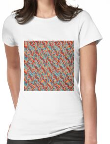 Chaos abstract design Womens Fitted T-Shirt