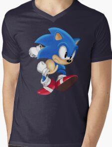 Sonic Runner Mens V-Neck T-Shirt