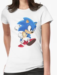 Sonic Runner Womens Fitted T-Shirt