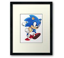 Sonic Runner Framed Print
