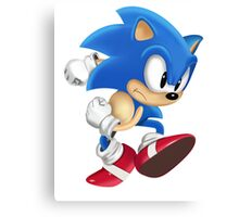 Sonic Runner Canvas Print