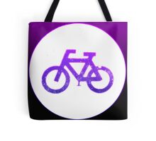 Glowing neon bicycle sign.  Tote Bag