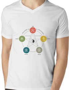 Five Elements / Phases Poster (Wu Xing) Mens V-Neck T-Shirt