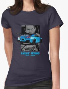 Paul walker Last Ride Womens Fitted T-Shirt