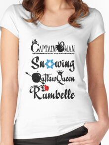 OUAT ships! Women's Fitted Scoop T-Shirt