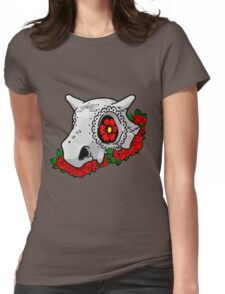 day of the dead cubone Womens Fitted T-Shirt