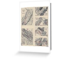 Civil War Maps 2141 Maps illustrating campaign of Gen T J Stonewall Jackson in the Shenandoah Valley of Virginia 1862 Greeting Card