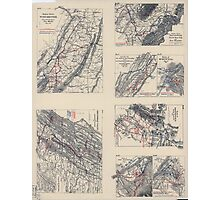 Civil War Maps 2141 Maps illustrating campaign of Gen T J Stonewall Jackson in the Shenandoah Valley of Virginia 1862 Photographic Print