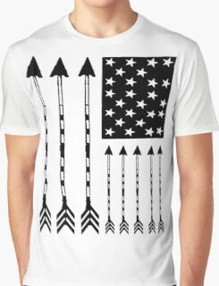 USA Arrow Flag Graphic T-Shirt
