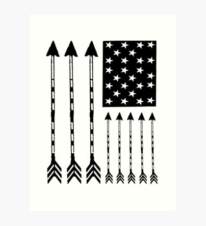 USA Arrow Flag Art Print