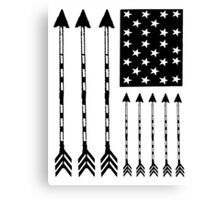 USA Arrow Flag Canvas Print