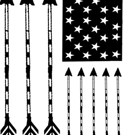 USA Arrow Flag Sticker