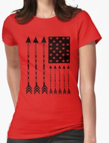USA Arrow Flag Womens Fitted T-Shirt