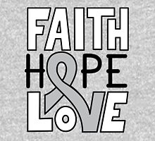 Faith Hope Love - Brain Cancer Awareness Unisex T-Shirt