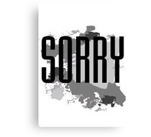 Sorry - Justin Bieber Canvas Print