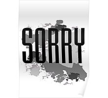 Sorry - Justin Bieber Poster