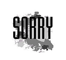 Sorry - Justin Bieber Photographic Print