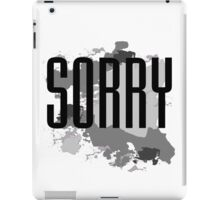 Sorry - Justin Bieber iPad Case/Skin