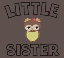 Owl Little Sister One Piece - Short Sleeve