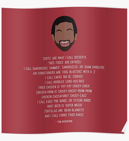 Tom Haverford-isms Poster