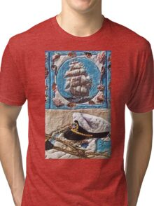 """Exclusive: """" Distant traveler sea captain """" / My Creations Artistic Sculpture Relief fact Main 27  (c)(h) by Olao-Olavia / Okaio Créations Tri-blend T-Shirt"""