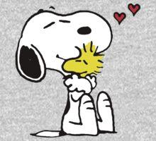 Snoopy and Woodstock Hug One Piece - Long Sleeve