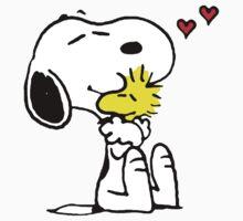 Snoopy and Woodstock Hug by CeaserTee