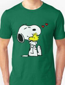 Snoopy and Woodstock Hug T-Shirt